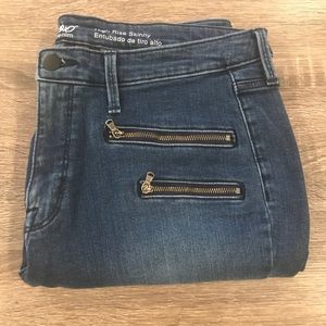 Motto zipper jeans